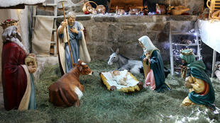 Une crèche de Noël à Luceram (Alpes Maritimes), le 20 décembre 2010.