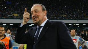 Rafael Benitez lors d'un match avec le Napoli, le 31 mai 2015.