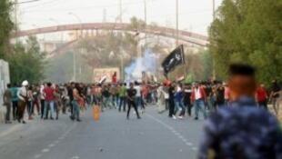 صدامات بين متظاهرين وقوات الامن في البصرة الثلاثاء في 4 ايلول/سبتمبر 2018