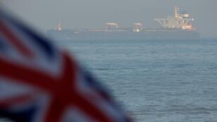 """ناقلة النفط الإيرانية """"غريس 1"""" أثناء احتجازها قبالة ساحل جبل طارق. 14 أغسطس/آب 2019."""