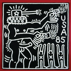 Keith Haring Untitled, 1985© Keith Haring Foundation Collection Keith Haring Foundation Acrylique sur toile 152,4 x 152,4 cm
