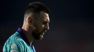 Lionel Messi lors de la défaite du FC Barcelone face au promu Grenade (2-0), le 21 septembre 2019.