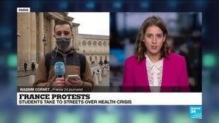 2021-03-16 16:10 France protests: Students take to the streets over health crisis