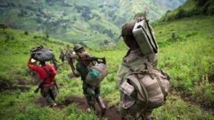 Rebelles du M23 dans l'est de la RD Congo.