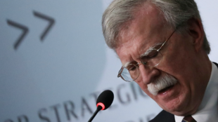 El exconsejero de Seguridad Nacional John Bolton realiza una conferencia sobre Corea del Norte en el Center for Strategic and International Studies (CSIS), en Washington, EE. UU., el 30 de septiembre de 2019.