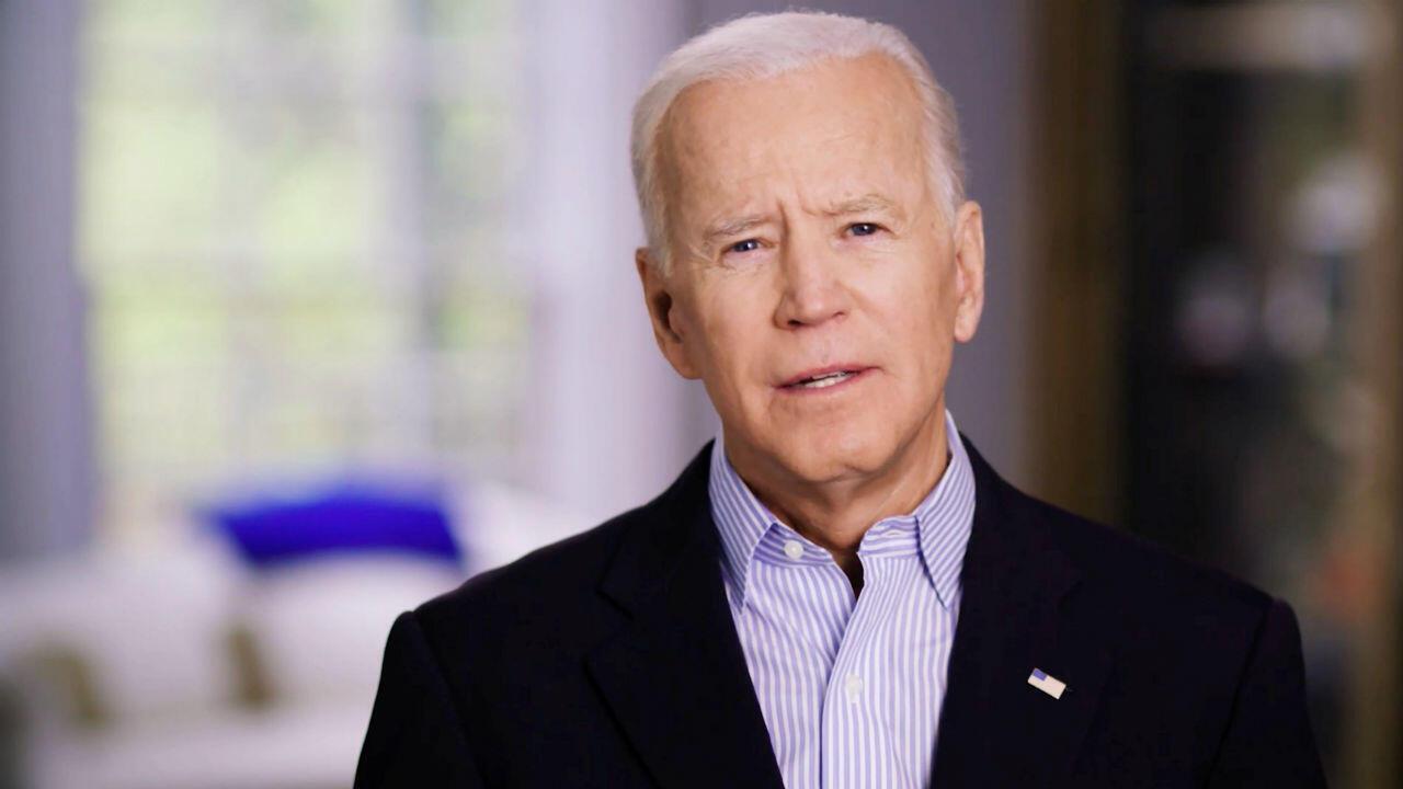 El exvicepresidente estadounidense Joe Biden en una de las imágenes de su nominación presidencial demócrata dada a conocer el 25 de abril de 2019.