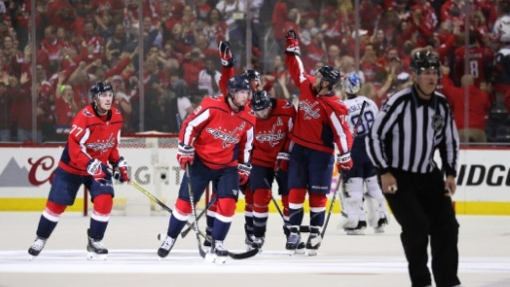 photo relating to Washington Capitals Printable Schedule referred to as Capitals blank Lightning towards stress NHL playoff showdown