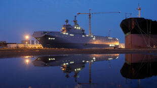 Le Vladivostok, premier Mistral dont la livraison à la Russie a été suspendue par l'Élysée, mercredi 3 septembre