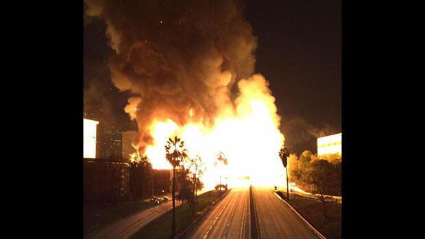 Plusieurs autoroutes de Los Angeles ont été fermées en raison des incendies.