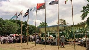 The Bougainville Ceasefire Agreement was signed on a makeshift stage in Arawa in 1998