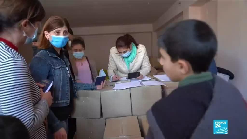 Les réfugiés du Haut Karabakh qui fuient leurs maisons.