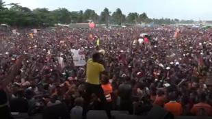 Meeting de campagne d'Andry Rajoelina.