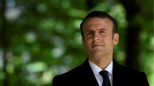 الرئيس الفرنسي إيمانويل ماكرون يحضر الحفل المقام في حديقة لوكسمبورغ بالعاصمة باريس إحياء لذكرى اليوم الوطني للإلغاء العبودية 10 مايو/أيار 2019