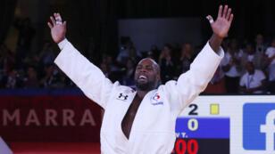 Teddy Riner après sa victoire en finale contre le Belge Toma Nikiforov, le 11 novembre à Marrakech.