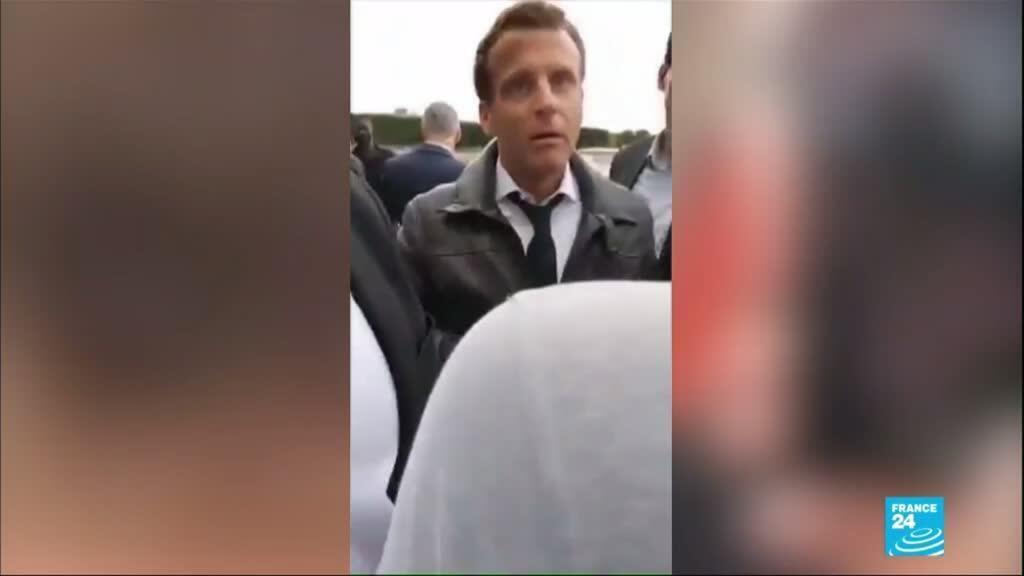2020-07-15 11:01 Emmanuel Macron pris à partie lors d'une balade aux Tuileries
