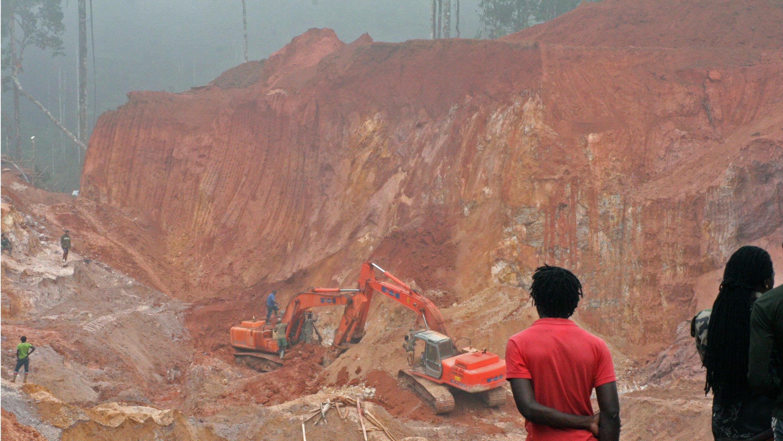Sitio de una mina de oro a unos 150 km de Paramaribo, capital de Surinam, país vecino al departamento francés de Guayana. Foto tomada a raíz de un accidente que mató a 7 mineros, en noviembre de 2010.