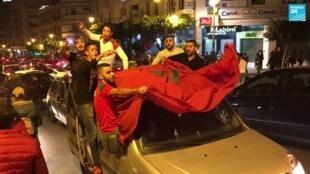 فرحة الجمهور المغربي بمدينة طنجة. 20171112