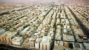 لقطة من الجو لمدينة الرياض في 10 فبراير/شباط 2000