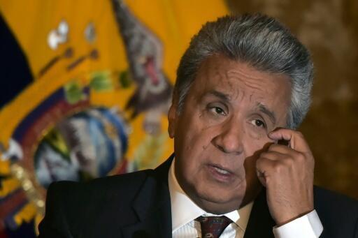 Archivo: El presidente ecuatoriano, Lenín Moreno, durante un encuentro con la prensa extranjera en Quito, el 5 de julio de 2018.