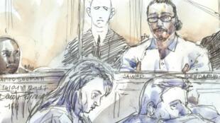جواد بن داوود عند مثوله أمام المحكمة في باريس 14 شباط/فبراير 2018.