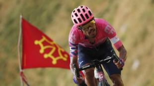 Daniel Martinez a remporté l'étape du Puy Mary.