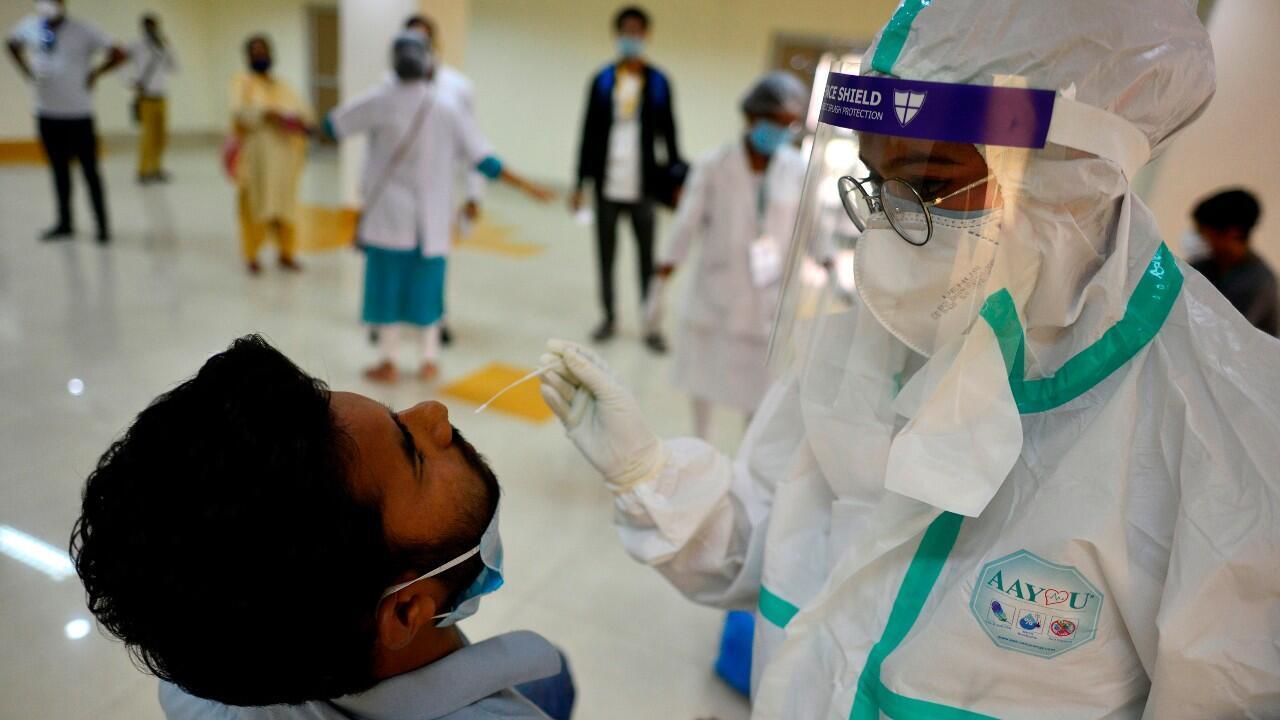 India registró más de 78.000 contagios en 24 horas el 30 de agosto.