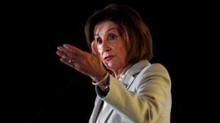 Nancy Pelosi, cheffe de file des démocrates à la Chambre des représentants, le 17 octobre 2019 à Washington.