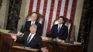 ترامب في خطابه الأول أمام الكونغرس 1 آذار 2017