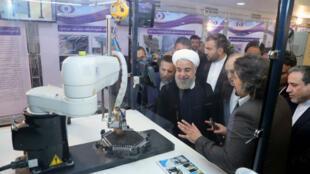 Le président iranien Hassan Rohani lors de la Journée mondiale de la technologie nucléaire, à Téhéran, le 9 avril 2018.