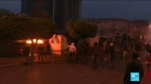 2021-01-28 06:13 Pandémie de Covid-19 au Liban : nouveaux heurts à Tripoli entre manifestants et policiers