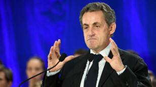 Nicolas Sarkozy lors de son meeting à Marcq-en-Baroeul, le 21 septembre.