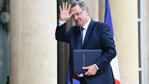 Le ministre de la Cohésion des territoires, Richard Ferrand, lors de son arrivée au Palais de l'Élysée, le 18 mai 2017.