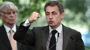 Nicolas Sarkozy, président du parti d'opposition Les Républicains.