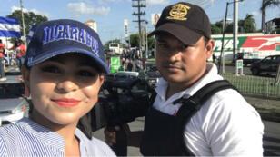 """La periodista Leticia Gaitán afirma sentirse """"cautiva"""" en su propio país. Denuncia que ha sido amenazada y robada por grupos armados afines al Gobierno del presidente Daniel Ortega."""