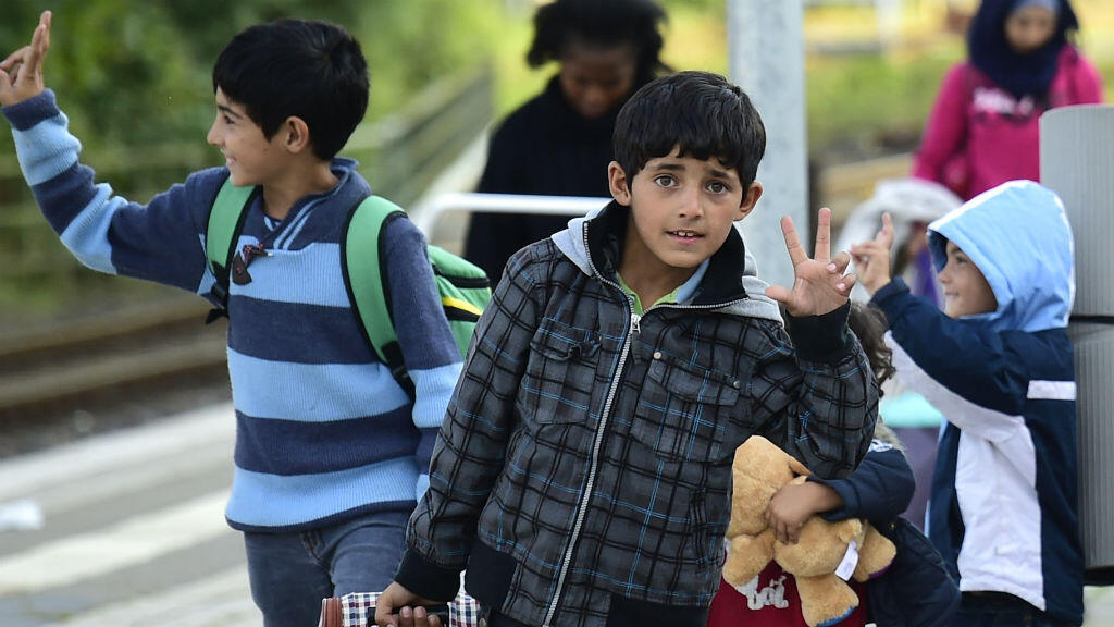 أطفال مهاجرون وصلوا ألمانيا في 8 أيلول/سبتمبر 2015