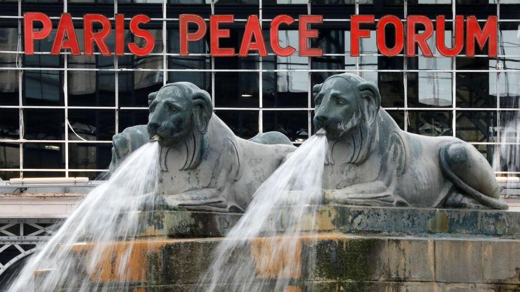 C'est à la Grande Halle de la Villette, dans l'est parisien, que se tient le Forum sur la paix de dimanche.