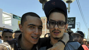 Le rappeur Emino, à droite sur la photo, avec l'artiste tunisien Weld-el 15