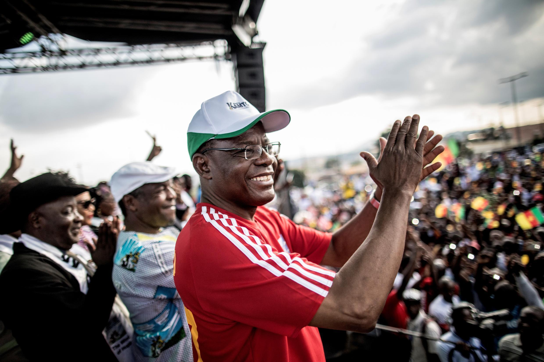 Photo d'archive de l'opposant camerounais Maurice Kamto, chef du Mouvement pour la renaissance du Cameroun (MRC), prise le 30 septembre 2018.