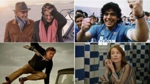 Jean-Louis Trintignant, Anouk Aimee, Maradona, Leonardo DiCaprio e Isabelle Huppert en el casting del Festival de Cine de Cannes 2019.