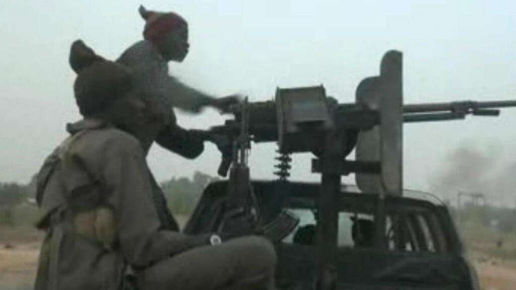 Capture d'écran d'une vidéo publiée le 2 janvier, par Boko Haram, filmée au checkpoint militaire près de la ville de Maiduguri.