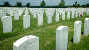 Les longs alignements de tombes du cimetière militaire de Killeen.