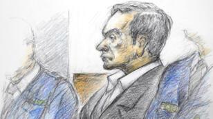 كارلوس أمام المحكمة في طوكيو، 8 يناير/كانون الثاني 2018