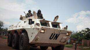 جنود تنزانيون من بعثة الأمم المتحدة لحفظ السلام في جمهورية أفريقيا الوسطى في 6 يوليو-تموز 2018.