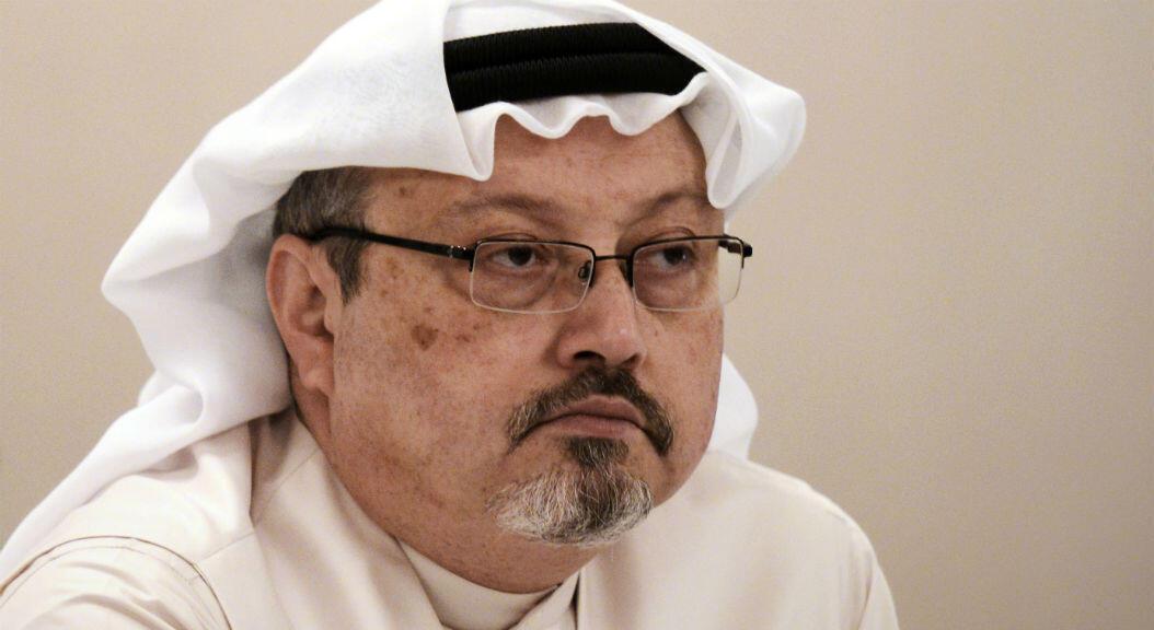 El periodista Jamal Khashoggi, durante una rueda de prensa en Bahrein, el 15 de diciembre de 2014.