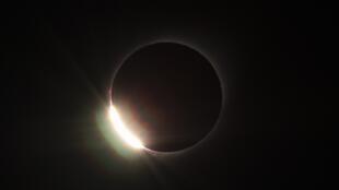 L'éclipse au-dessus du Chili, le 2 juillet 2019.
