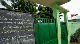 Une école d'Abidjan fermée à cause du coronavirus, le 19 mars 2020.