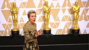 Frances McDormand, Oscar de la meilleure actrice, le 4 mars 2018.