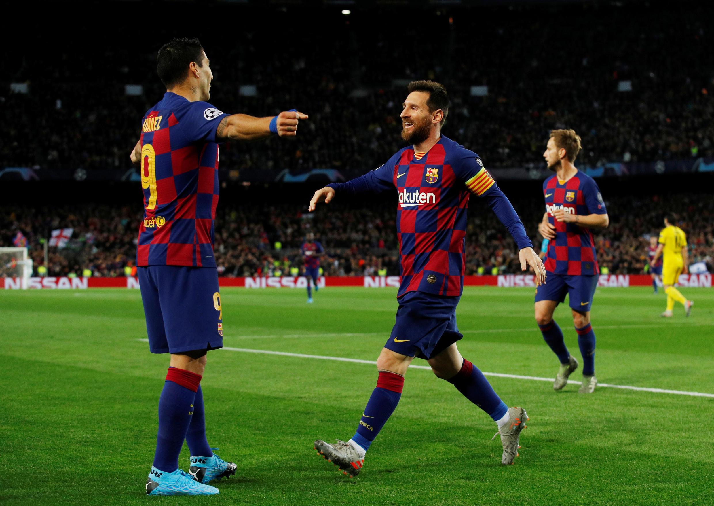 جانب من مباراة برشلونة وبروسيا دورتموند، 27/11/2019 .