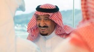 الملك سلمان في منى، في 2016/09/12.