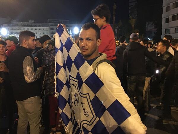 أحمد من مدينة وجدة، محتفلا بالتأهل إلى المونديال